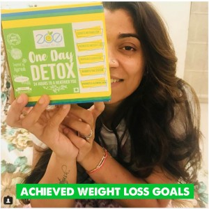 Achieved my weight loss goals effortlessly with Zoe's One Day Detox